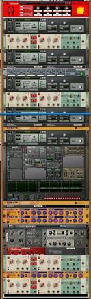 Super Mono-Synth the whole rack