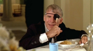 Ruprecht sticks a fork in his eye